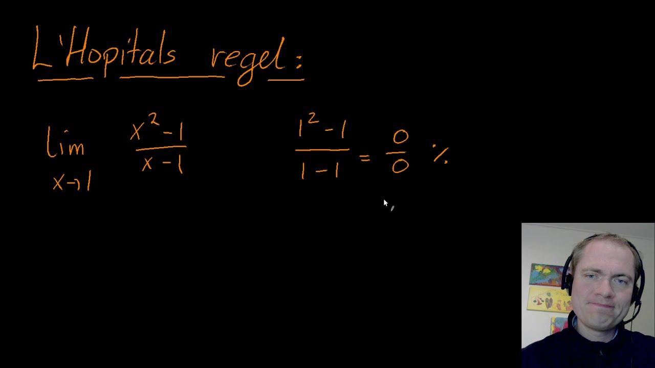 L'Hopitals regel - eksempler og sandsynliggørelse
