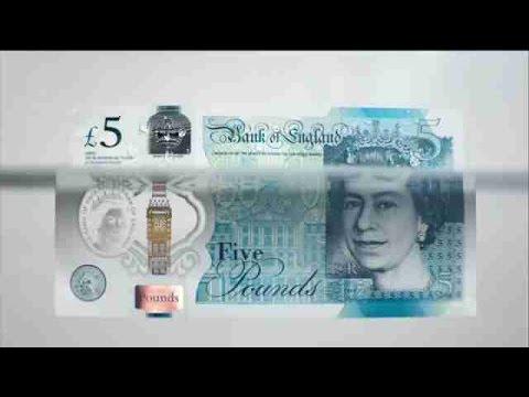 Inglaterra Pone En Circulación Su Nuevo Billete De Plástico De Cinco Libras