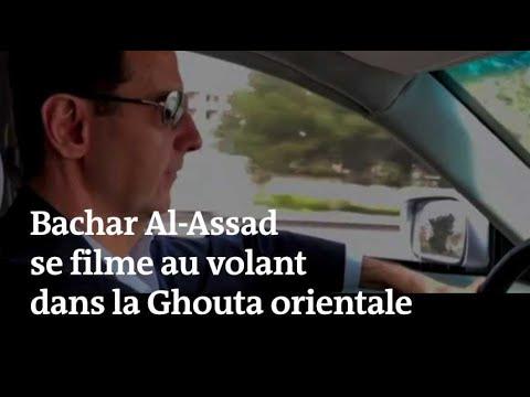 Bachar Al-Assad se filme au volant dans la Ghouta orientale reprise aux rebelles