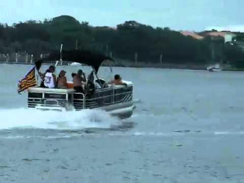 2009 Emerald Coast Poker Run Fastest Pontoon Boat Www Keepvid Com Mp4