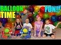 Balloon Bot Fun!! || Family Game Night