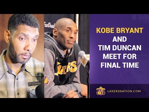 Kobe Bryant & Tim Duncan After Their Final Matchup