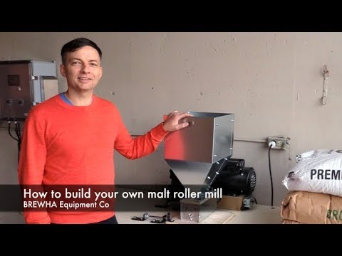 How to build a grain/grist/malt roller mill for brewing beer