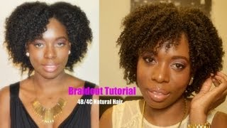 How To Braid Out Tutorial On Natural Hair &quot4C4B hair&quot