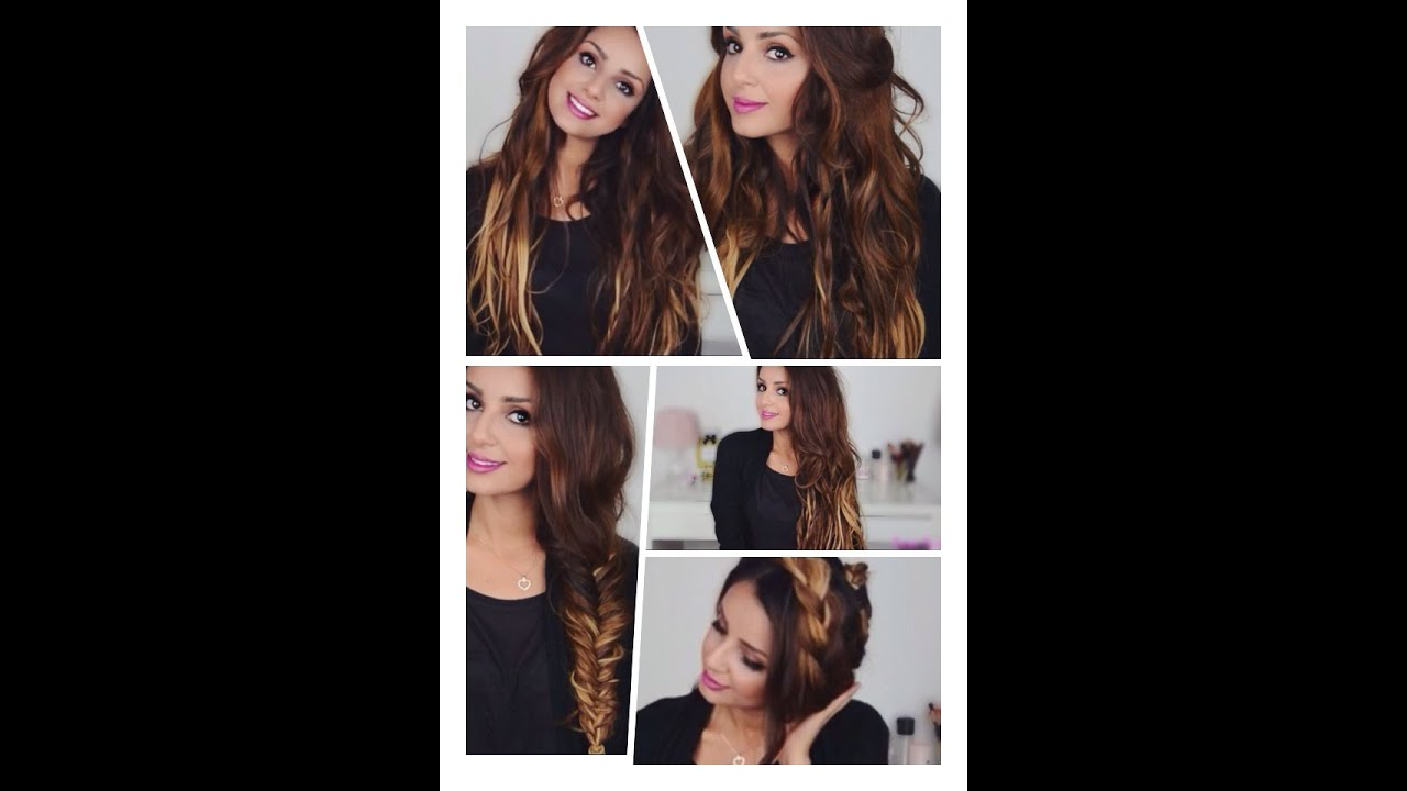 3 Superschnelle Alltagsfrisuren I Clip In Extensions Rewiev YouTube