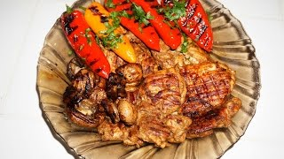 Курица с овощами на гриле    Grilled chicken and vegetables
