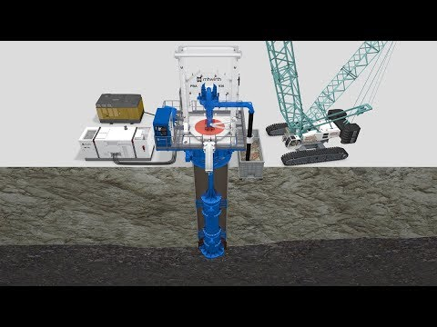 MHWirth Reverse Circulation Drilling (RCD) Technology with Pile Top  Drilling Rigs