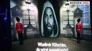 David Haye: entrance to the ring before facing Wladimir Klitschko