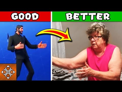 Fortnite Dance IN REAL LIFE - Granny Busts SICK FORTNITE DANCE MOVES