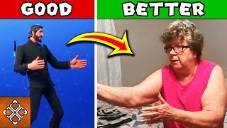Fortnite Dance IN REAL LIFE - Granny Busts SICK FORTNITE DANCE MOVES