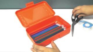 Colored Plastic Pencil Boxes