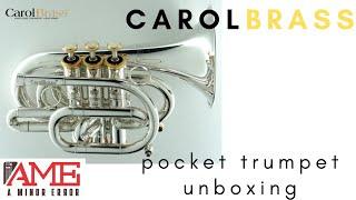 CarolBrass Pocket Trumpet Unboxing (Model CPT-3000-GLS-SG)