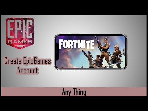 How to create Epic game account