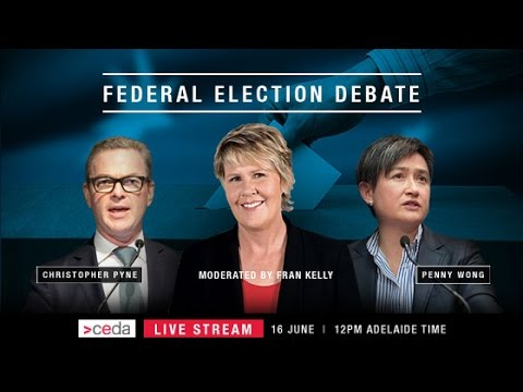 Federal election debate: Christopher Pyne and Penny Wong