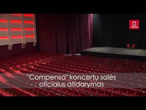 Compensa koncertų salė planas