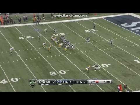 Rams VS Packers (Sam Barrington Beast Sack!)