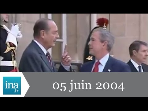 20h France 2 du 5 Juin 2004 - G W Bush à Paris - Archive INA