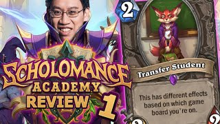 NEW EXPANSION HYPE! - Scholomance Academy Review #1 | Hearthstone
