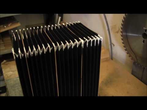 Accordion bellows construction: pressing corners