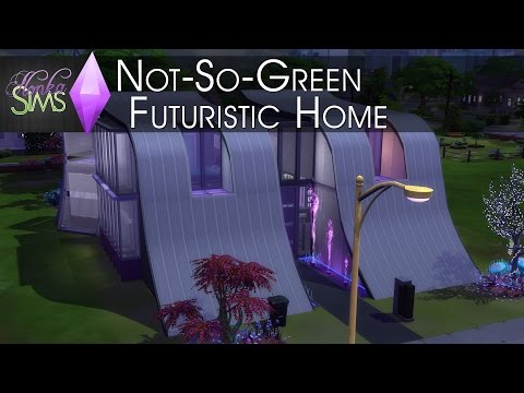 The Sims 4 Speed Build - Not-So-Green Futuristic Home