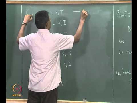 Mod-07 Lec-29 The Cayley-Hamilton Theorem