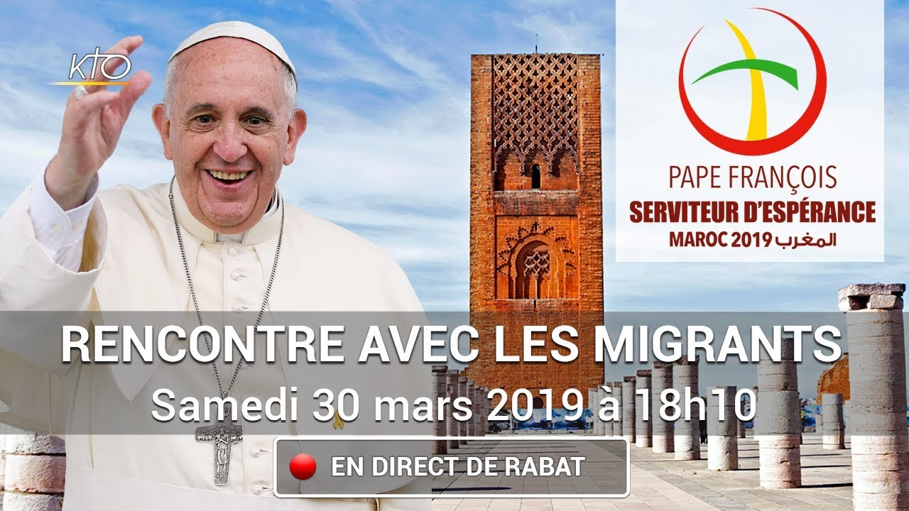 """Résultat de recherche d'images pour """"pape françois, visite au maroc, rencontre des migrants, pape françois"""""""