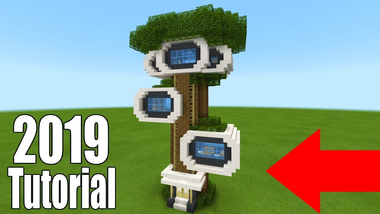 Minecraft Tutorial: How To Make A Modern Survival Tree House 2019