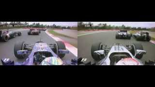 Vettel and Magnussen - Spain 2014 Dual Onboard Replay