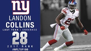 #28: Landon Collins (S, Giants) | Top 100 Players of 2017 | NFL