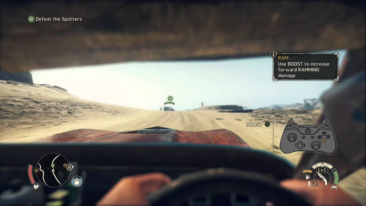 mad max game first person view