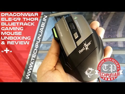 dee6d26ee24 Dragonwar ELE-G9 Thor Bluetrack Gaming Mouse : Unboxing & Review - YouTube