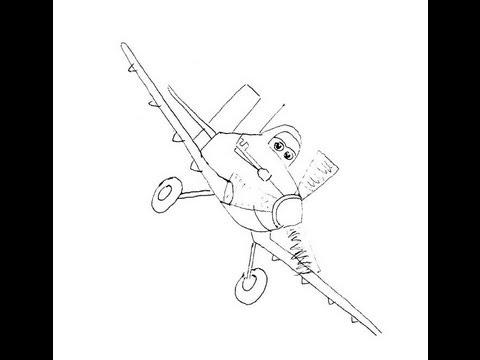 Planes Film Dusty Crophopper How To Draw Мультфильм
