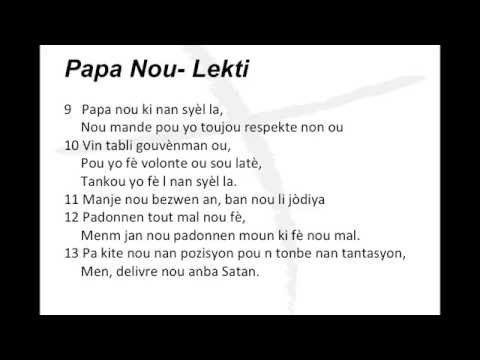 Haitian Creole Pronunciation- The Lord's Prayer