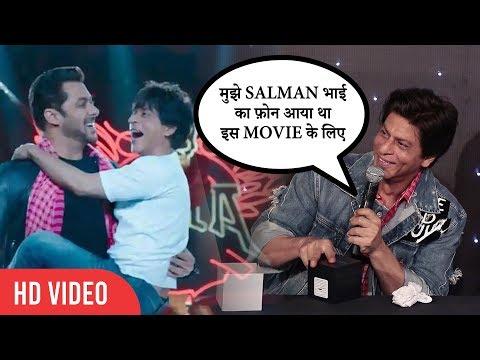 Shahrukh Khan Show LOVE and RESPECT for Salman Khan   Zero Official Trailer Launch