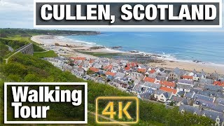 4K City Walks: Cullen, Scotland Virtual Walk on Moray Firth