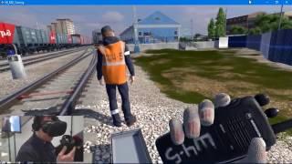Виртуальный тренажер электромеханика РЖД (HTC Vive)
