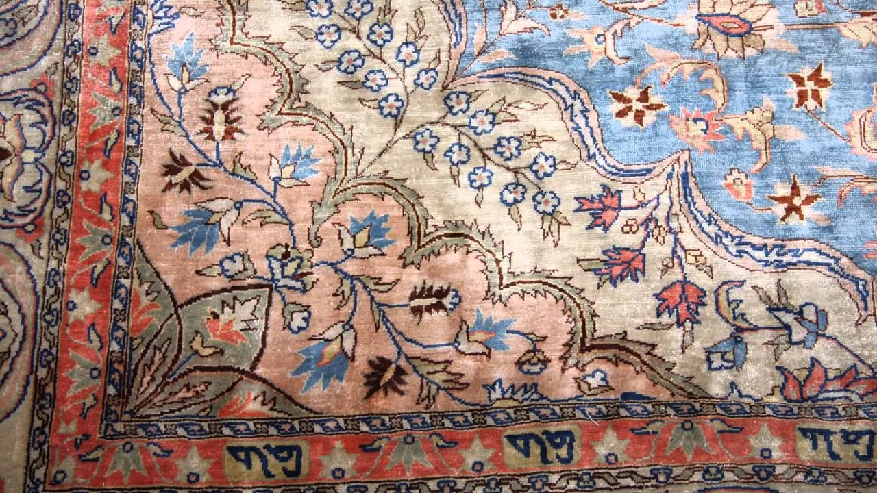 Very Fine Pure Silk Turkish Hereke Rug