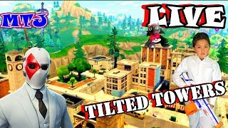 🍩FORTNITE Tilted Towers LIVE Gameplay Fans KID GAMER MinetheJ Fortnite Battle Royale Wild Card skin