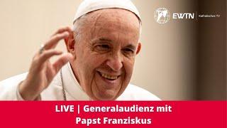 Nimm mit uns an der generalaudienz papst franziskus teil., wenn du diese Übertragung unterstützen möchtest, kannst hier spenden:, https://ewtn.de/spenden, lass wissen, woher zuschaust ...
