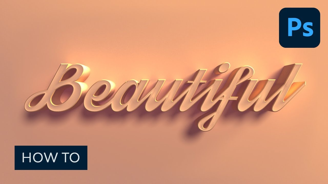 How to Make a 12D Text Effect in Photoshop