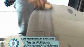 Pelatihan Cara Membersihkan Sofa Mobil. Info Kursus: 082330853725