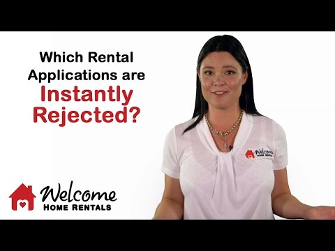 Which Rental Applications Get Instantly Rejected? | Property Management | Welcome Home Rentals