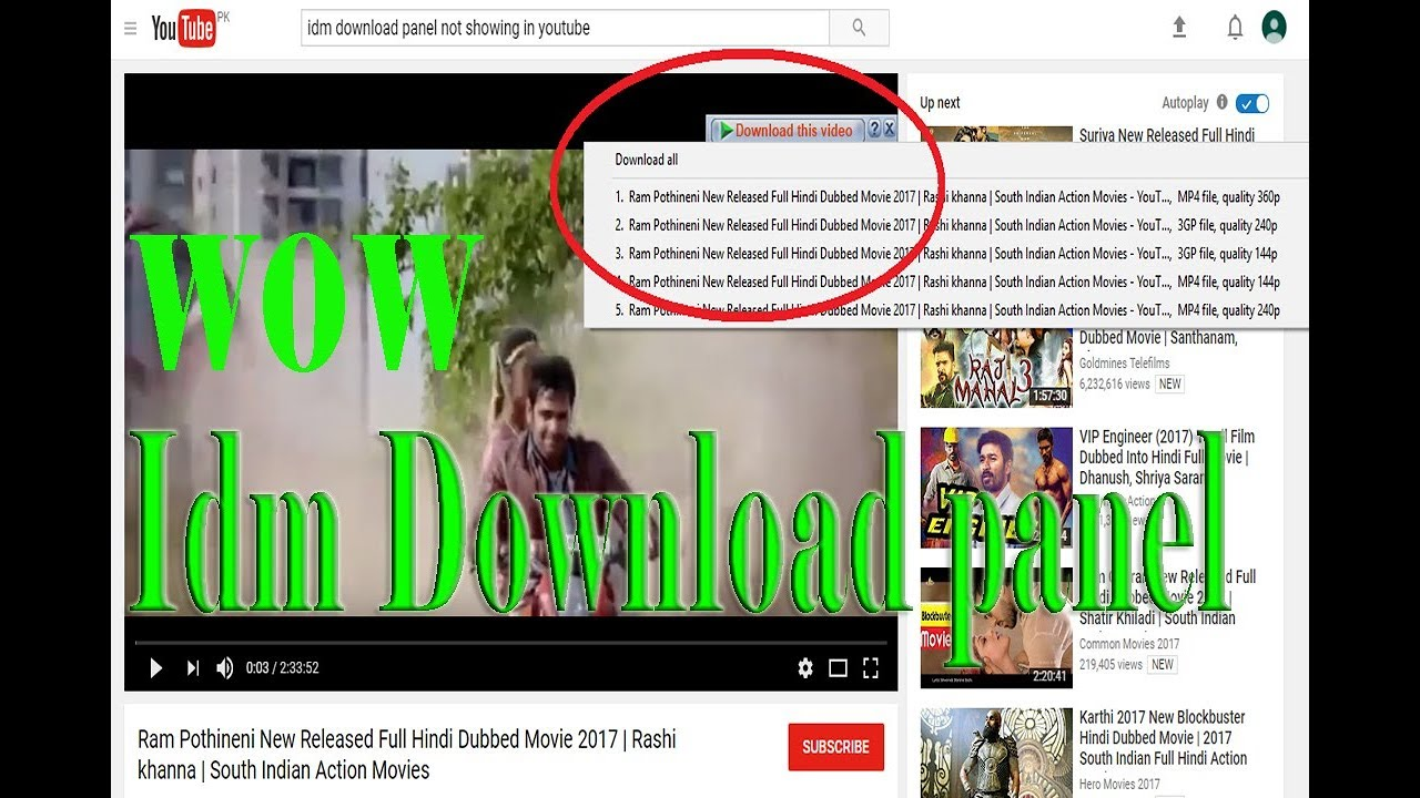 how idm download youtube videos