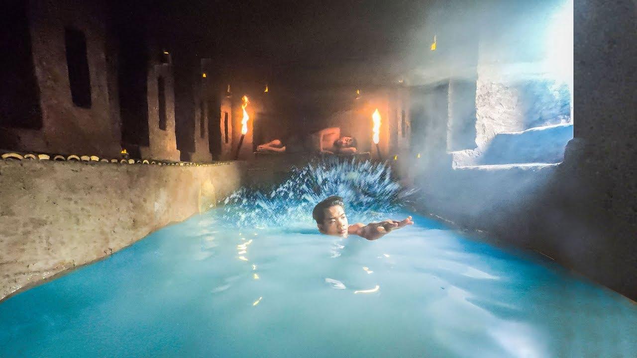 Build Swimming Pool Around Secret Underground House