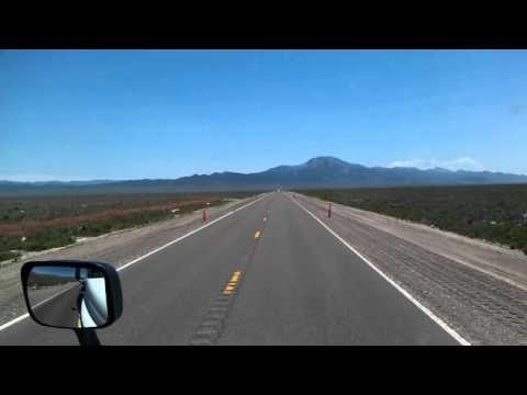 US Highway 93 South near Currie, Nevada on the Great Basin Highway