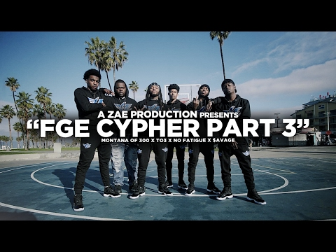 "Thumbnail: Montana Of 300 x TO3 x $avage x No Fatigue ""FGE CYPHER Pt 3"" Shot By @AZaeProduction"