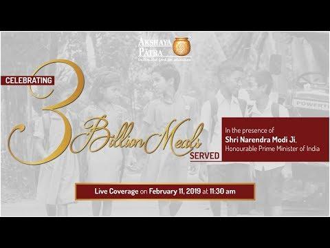Akshaya Patra l 3 Billion Meals Commemoration l Live Coverage