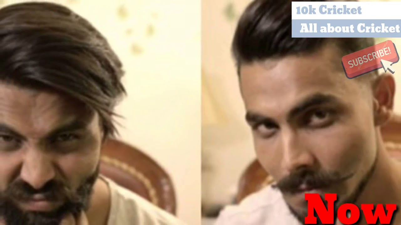 ravindra jadeja before and now new hair style