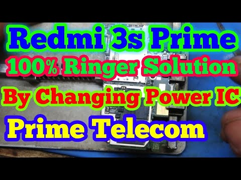 Mi Redmi 3s & 3s Prime Speaker or Ringer Problem Solution by Changing Power  IC | Prime Telecom |