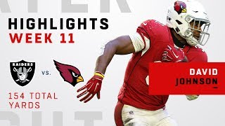 David Johnson Highlights vs. Raiders